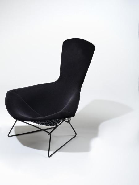 Knoll Inc Bertoia Bird Chair gepolstert schwarz