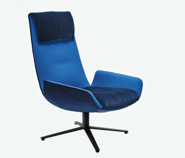 Freifrau Amelie Lounge Chair Fußkreuzgestell