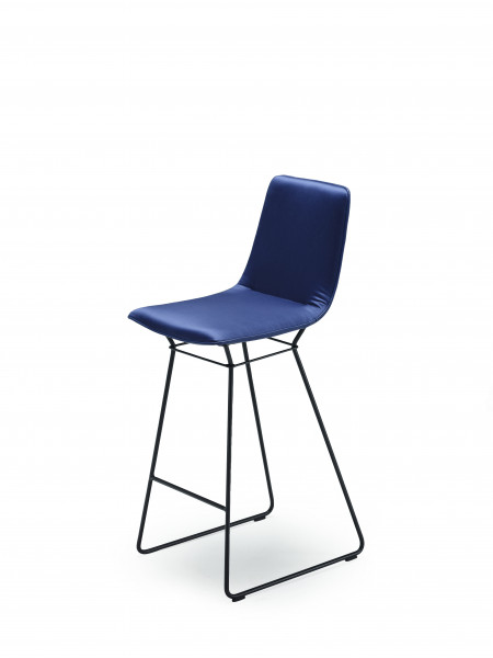 Freifrau Amelie Counter Stool High Drahtgestell Leder
