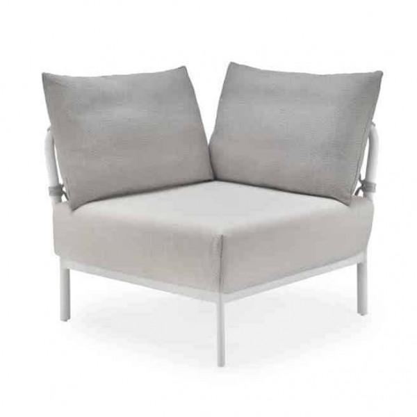 Solpuri Caro Lounge Eck-Modul 90° Alu white Diamond PG3