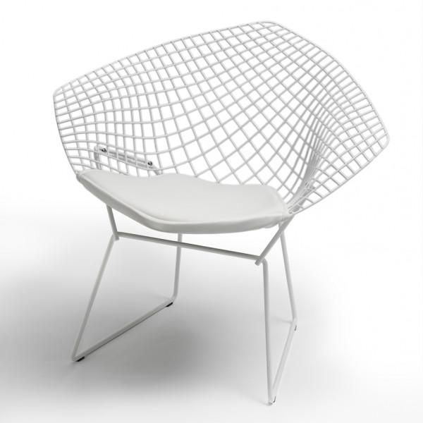 Knoll Inc Bertoia Diamond Chair Outdoor Weiss