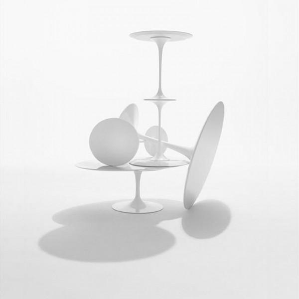 Knoll International Saarinen Tulip High round dining Table Tisch 91cm Laminat