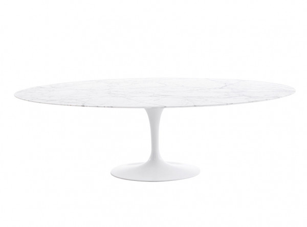 Knoll International Saarinen Tulip High oval dining Table Tisch 198cm Marmor