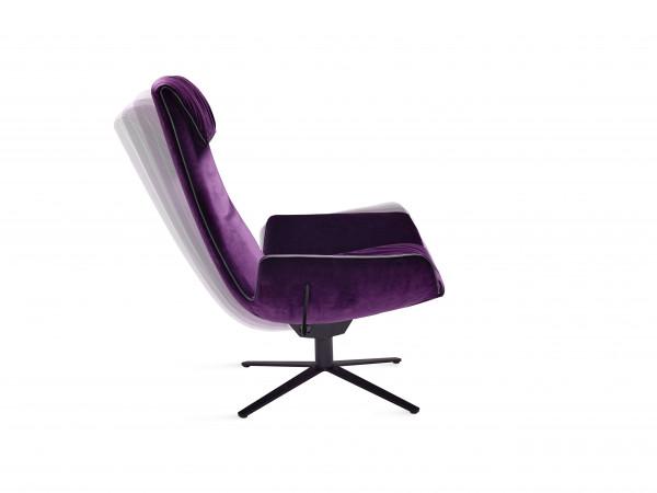 Freifrau Amelie Lounge Chair Fußkreuzgestell mit Wipp-Kippmechanik