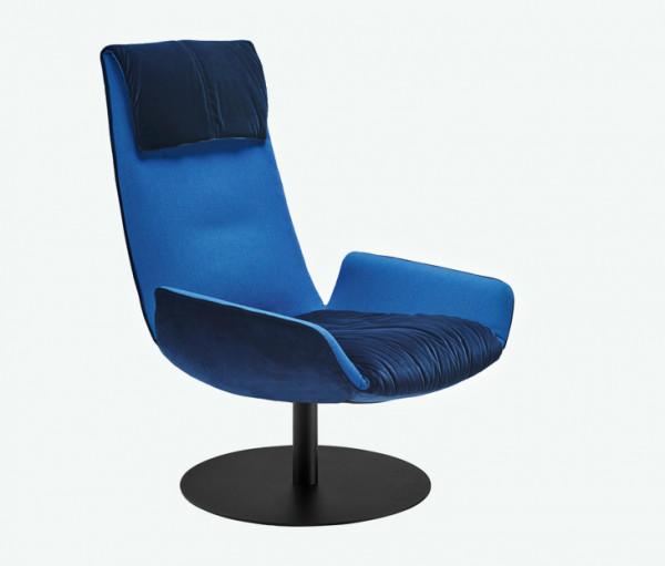 Freifrau Amelie Lounge Chair Tellerfuss