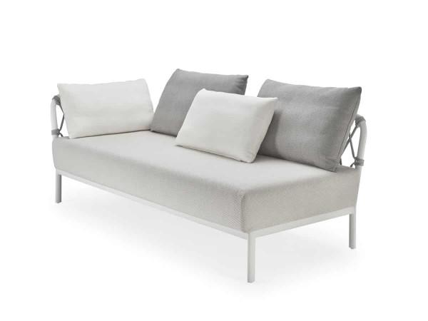 Solpuri Caro Lounge Sofa Recamiere Alu white premium PG1