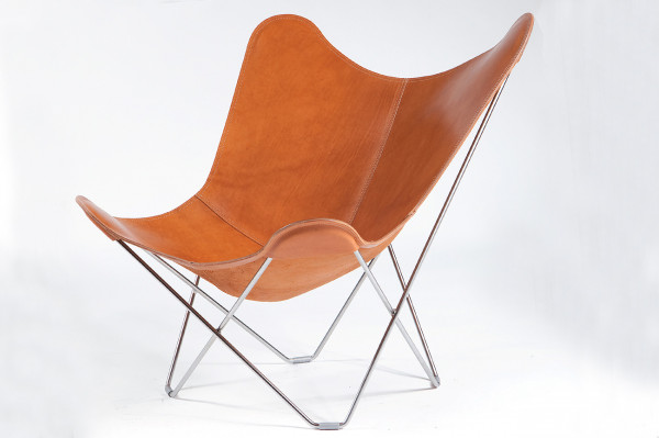 Cuero Pampa Mariposa Butterfly chair