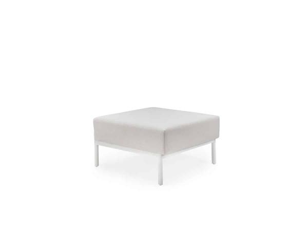 Solpuri Caro Lounge Hocker Alu white deluxe PG2