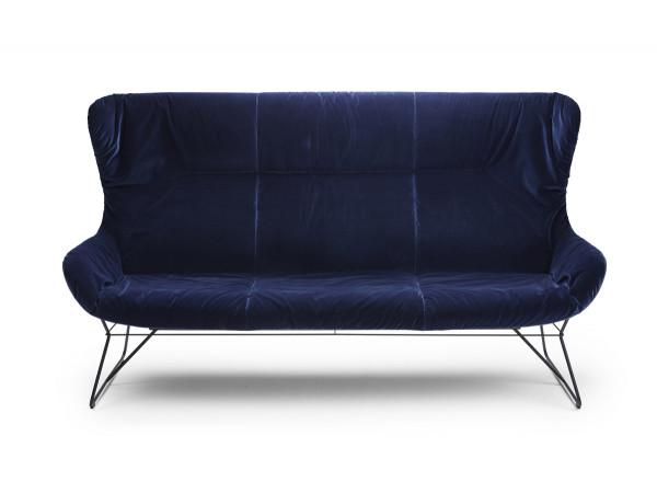 Freifrau Leya Wingback Couch 130cm - Leder Orient