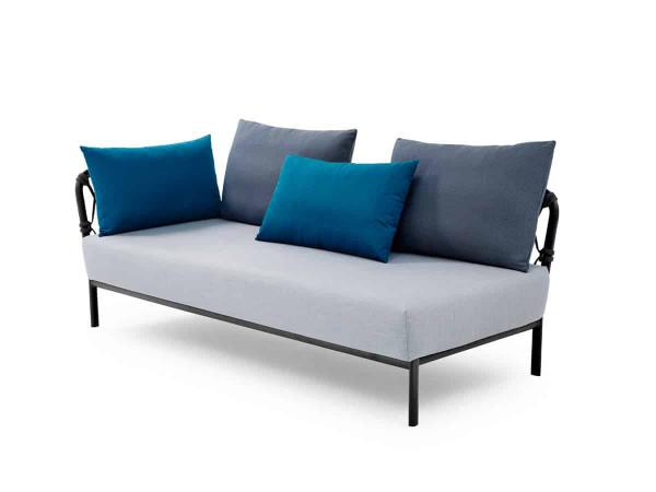 Solpuri Caro Lounge Sofa Recamiere Alu anthracite diamond PG3