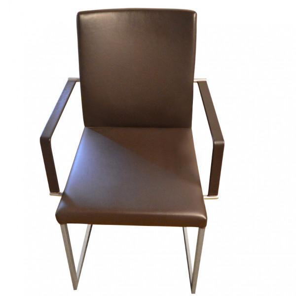KFF Feel Freischwinger Stuhl Armlehne Leder