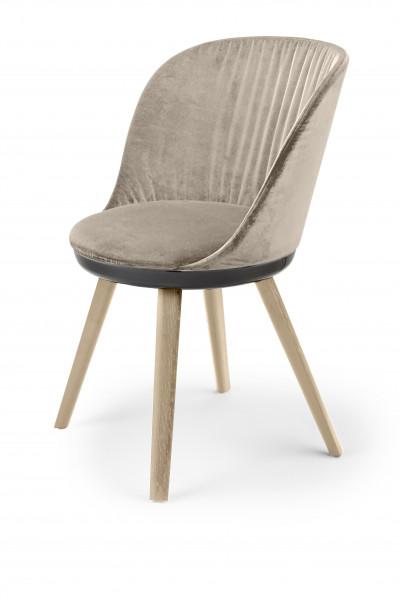 Freifrau Romy Stuhl Chair Holzgestell Stoff