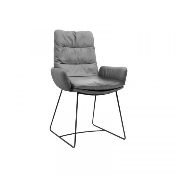 KFF ARVA Light Stuhl Armlehne gepolstert Leder