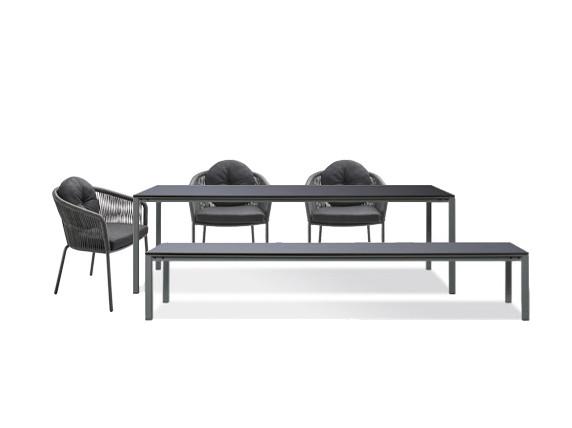 Janua S600 Outdoor Set inkl. 3 solpuri Loop Stühle