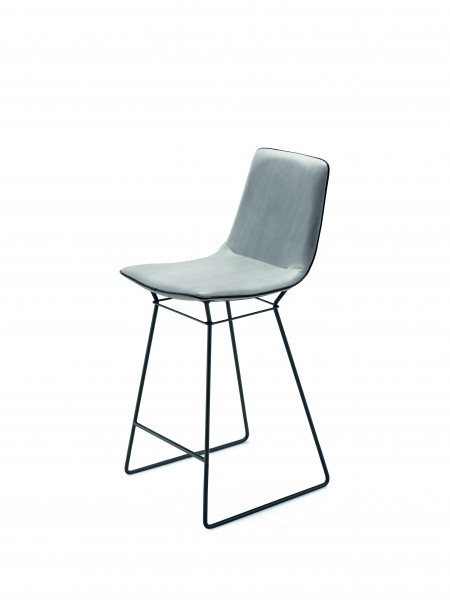 Freifrau Amelie Kitchen Stool High Drahtgestell Stoff