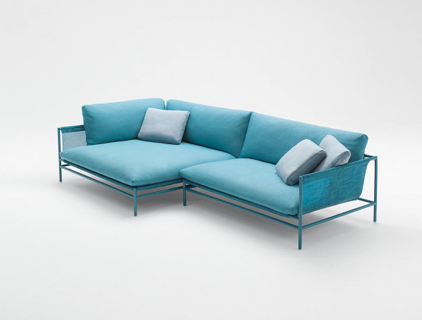 Paola Lenti Canvas Sofa Divan Eckelement