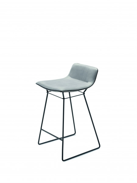 Freifrau Amelie Kitchen Stool Low Drahtgestell Stoff